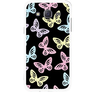 Snooky Printed Butterfly Mobile Back Cover For Samsung Galaxy J5 - Multicolour