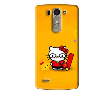 Snooky Printed Kitty Study Mobile Back Cover For Lg G3 Beat D722k - Multi
