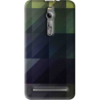 Snooky Printed Geomatric Shades Mobile Back Cover For Asus Zenfone 2 - Multi