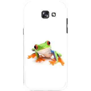 Snooky Printed Frog Mobile Back Cover For Samsung Galaxy A7 (2017) - Multicolour