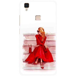 Snooky Printed Attitude Girl Mobile Back Cover For Vivo V3 - Multi