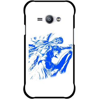 Snooky Printed Horse Boy Mobile Back Cover For Samsung Galaxy Ace J1 - Multicolour