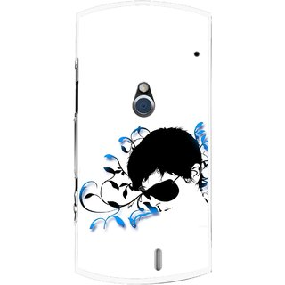 Snooky Printed Stylo Man Mobile Back Cover For Sony Ericsson Xperia Neo V - Multi