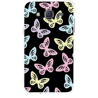 Snooky Printed Butterfly Mobile Back Cover For Samsung Galaxy J7 - Multicolour