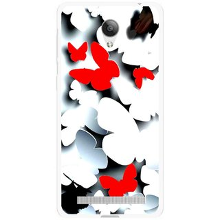 Snooky Printed Butterfly Mobile Back Cover For Vivo Y28 - Multicolour