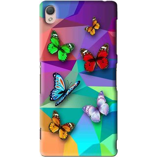Snooky Printed Trendy Buterfly Mobile Back Cover For Sony Xperia Z3 - Multi