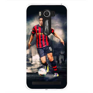 Snooky Printed Football Mania Mobile Back Cover For Asus Zenfone 2 Laser ZE500KL - Multi
