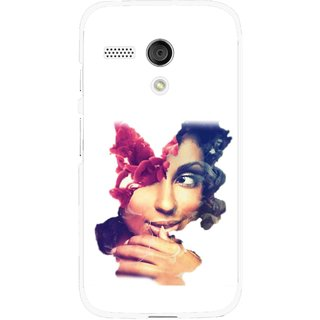 Snooky Printed Vintage Girl Mobile Back Cover For Moto G - Multi