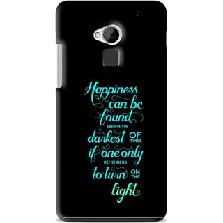 Snooky Printed Everywhere Happiness Mobile Back Cover For HTC One Max - Multi