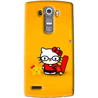 Snooky Printed Kitty Study Mobile Back Cover For Lg G4 - Multi