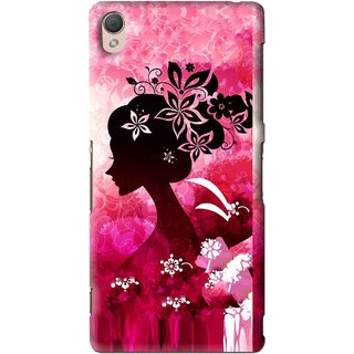 Snooky Printed Pink Lady Mobile Back Cover For Sony Xperia Z3 - Multi