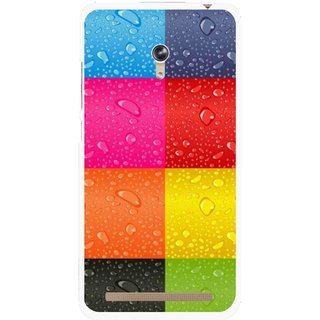 Snooky Printed Water Droplets Mobile Back Cover For Asus Zenfone 6 - Multicolour
