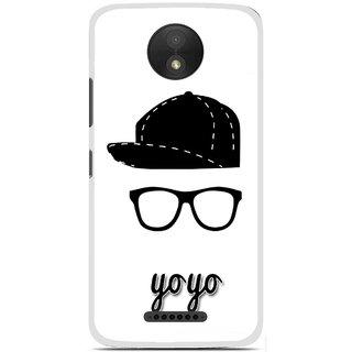 Snooky Printed Yo Yo Mobile Back Cover For Motorola Moto C Plus - Multicolour