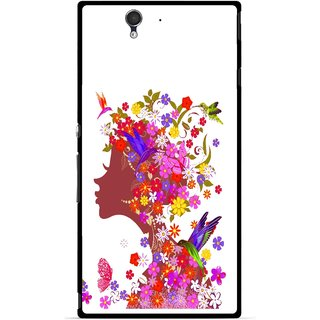 Snooky Printed Girl Beauty Mobile Back Cover For Sony Xperia Z - Multicolour