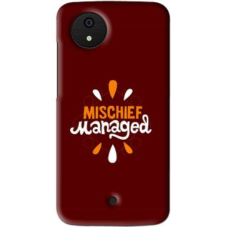 Snooky Printed Mischief Mobile Back Cover For Micromax Canvas Android One - Multi