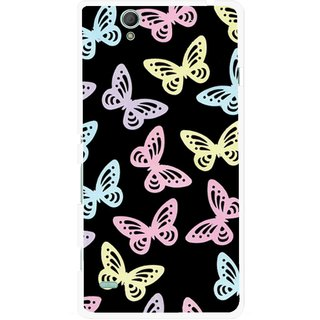 Snooky Printed Butterfly Mobile Back Cover For Sony Xperia C4 - Multicolour