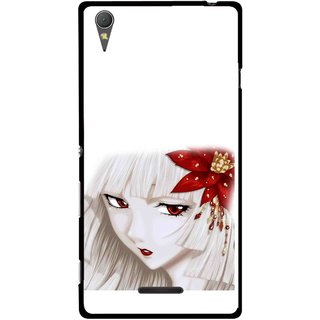 Snooky Printed Chinies Girl Mobile Back Cover For Sony Xperia T3 - Multicolour