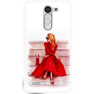 Snooky Printed Attitude Girl Mobile Back Cover For Lg L Fino - Multi