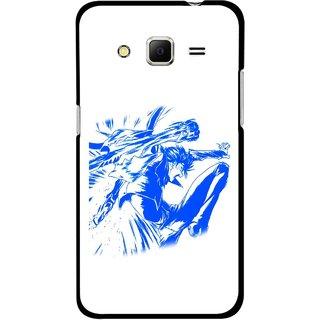 Snooky Printed Horse Boy Mobile Back Cover For Samsung Galaxy Core Prime - Multicolour