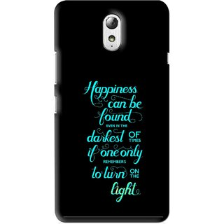 Snooky Printed Everywhere Happiness Mobile Back Cover For Lenovo Vibe P1M - Multi
