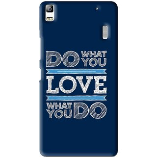 Snooky Printed Love Your Work Mobile Back Cover For Lenovo A7000 - Multi