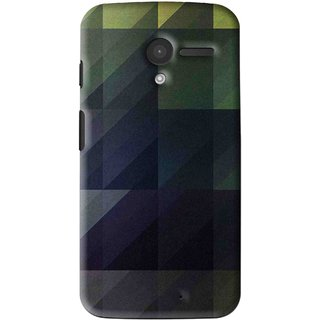 Snooky Printed Geomatric Shades Mobile Back Cover For Moto X - Multi