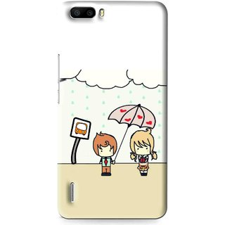 Snooky Printed Feelings in Love Mobile Back Cover For Huawei Honor 6 Plus - Multi