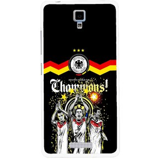 Snooky Printed Champions Mobile Back Cover For Gionee Pioneer P4 - Multicolour