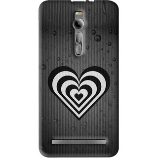 Snooky Printed Hypro Heart Mobile Back Cover For Asus Zenfone 2 - Multi