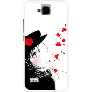 Snooky Printed Mistery Girl Mobile Back Cover For Huawei Honor Holly - Multicolour