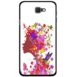 Snooky Printed Girl Beauty Mobile Back Cover For Samsung Galaxy J5 Prime - Multicolour