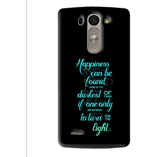 Snooky Printed Everywhere Happiness Mobile Back Cover For Lg G3 Beat D722k - Multi