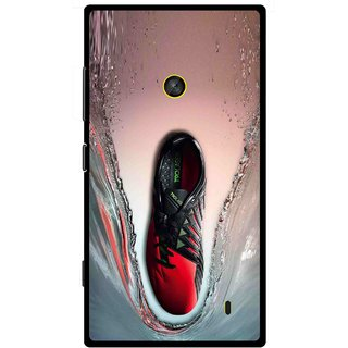 Snooky Printed Water Mobile Back Cover For Nokia Lumia 520 - Multi