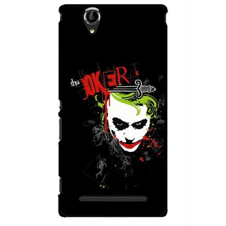 Snooky Printed The Joker Mobile Back Cover For Sony Xperia T2 Ultra - Multicolour
