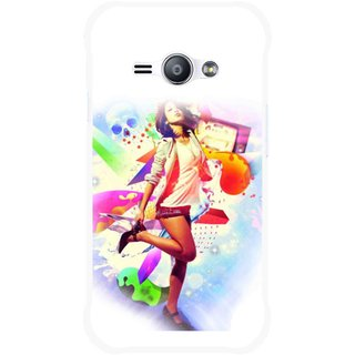 Snooky Printed Shopping Girl Mobile Back Cover For Samsung Galaxy Ace J1 - Multicolour