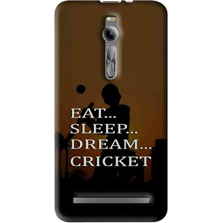 Snooky Printed All Is Cricket Mobile Back Cover For Asus Zenfone 2 - Multi