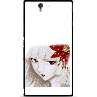 Snooky Printed Chinies Girl Mobile Back Cover For Sony Xperia Z - Multicolour