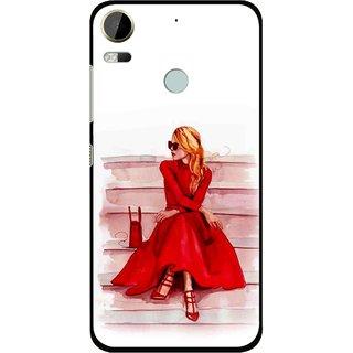 Snooky Printed Attitude Girl Mobile Back Cover For HTC Desire 10 Pro - Multi