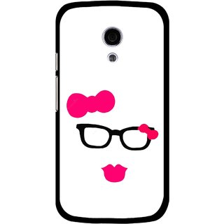 Snooky Printed Pinky Girl Mobile Back Cover For Moto G2 - Multi