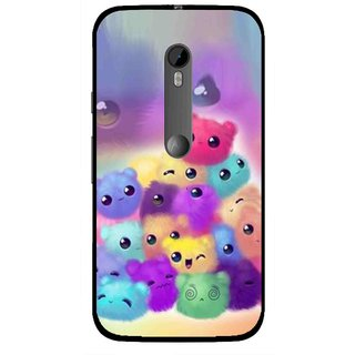 Snooky Printed Cutipies Mobile Back Cover For Moto G3 - Multi