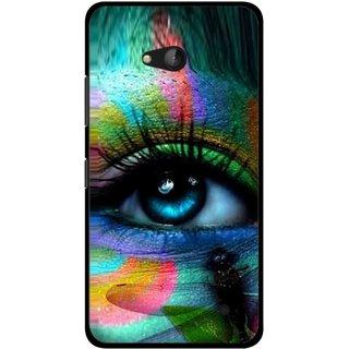 Snooky Printed Designer Eye Mobile Back Cover For Nokia Lumia 640 - Multicolour