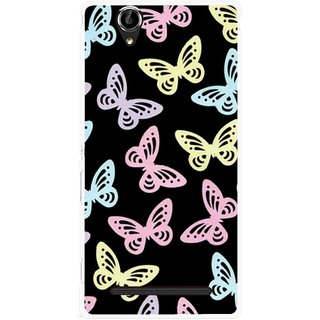 Snooky Printed Butterfly Mobile Back Cover For Sony Xperia T2 Ultra - Multicolour