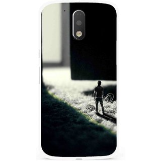 Snooky Printed God Door Mobile Back Cover For Moto G4 Plus - Multi