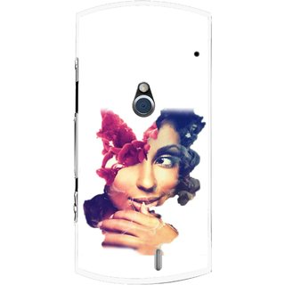 Snooky Printed Vintage Girl Mobile Back Cover For Sony Ericsson Xperia Neo V - Multi