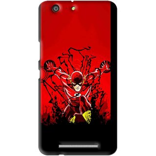 Snooky Printed Super Hero Mobile Back Cover For Gionee Marathon M5 - Multi