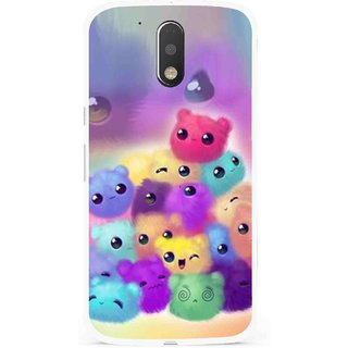 Snooky Printed Cutipies Mobile Back Cover For Moto G4 Plus - Multi