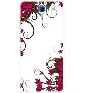 Snooky Printed Flower Creep Mobile Back Cover For HTC Desire 620 - Multicolour