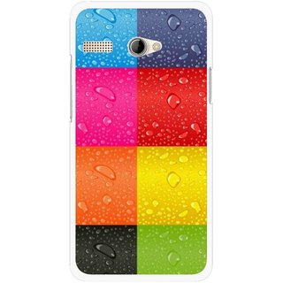 Snooky Printed Water Droplets Mobile Back Cover For Intex Aqua 3G Pro - Multicolour