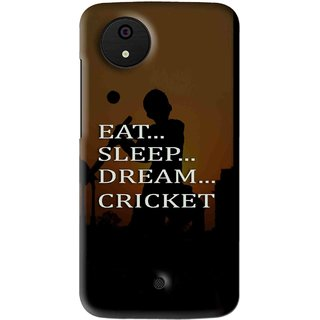 Snooky Printed All Is Cricket Mobile Back Cover For Micromax Canvas Android One - Multi