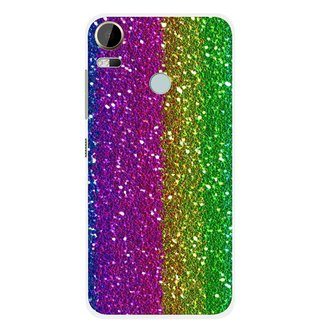 Snooky Printed Sparkle Mobile Back Cover For HTC Desire 10 Pro - Multi